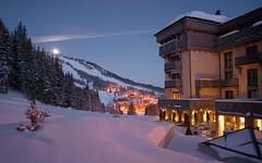 Aman Le Melezin - Exterior at Night (5StarAlliance) Tags: amanlemelezin lemelezin alps fivestaralliance fivestar deluxe top best amanresort skiresort