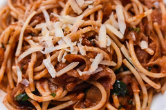 #36/52 Oh Amatriciana (a food connection to Amatrice) (PJMixer) Tags: 52weekproject nikon toronto closeupfilter dogwood52 dogwoodweek36 food neighbourhood pasta restaurant