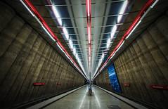 Underground (dieterein@ymail.com) Tags: mnchen munich architecture architektur germany urban mangfallplatz subway underground bayern metro symmetry 14mm lights lines