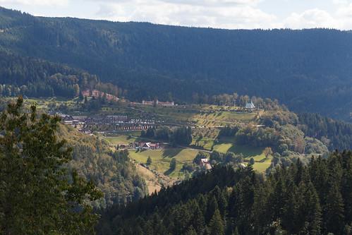 Vue sur le Dollenberg depuis la Renchtalhütte à Bad Peterstal