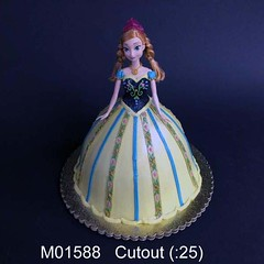 M01588 (merrittsbakery) Tags: cake shaped barbie doll frozen movie cartoon disney princess