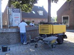 P9134694 (Hervormd-Sprang.nl) Tags: restauratie kerk muur voeg schoonmaken