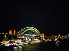 Sydney Harbour Bridge CCTV (Chad Ajamian) Tags: vivid sydney harbour bridge night blurry crystal cctv f14 epl1 bokeh swirly
