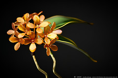 2016    2016 Fragrant olive 01 ( sakae) Tags:   fragrant olive    kanzashi hair pin ornaments        kimono  sakae         resin time out cnn nhk     chromavision interbee2015