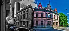 Riga, Latvia. Z Towers | August 2016 (Temphotto) Tags: nikon d40 riga latvia latvija z towers skyscarpers old street arhitecture town daugavgrivas twins tower hdr software treatment cs5 photoshop europe buildings sky panorama adobe
