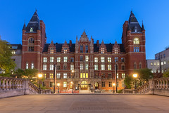 Royal College of Music (Leigh Cousins RAW) Tags: royalcollegeofmusic princeconsortroad kensington southkensington london architecture outdoors bluehour queenelizabethsteps citylights historic westernart performance composition conducting musictheory music