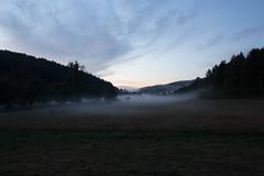 Brume du soir dans la valle. (micge) Tags: brume soir nuit morvan