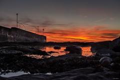Gamrie Sunset (Silver Machine) Tags: gamrie gardenstown pier rocks seaweed sunset water sea landscape redsky fujifilm fujifilmxt10 fujinonxf35mmf2rwr