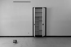 Empty closet (rvanhegelsom) Tags: europe old urban architecture abandoned indoor exploration hospital forgotten lost belgium urbex indoors sanatorium urbanexploration urbexworld urbxtreme closet cupboard furniture