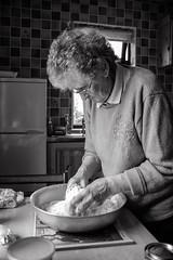 Ag Danamh Arin / Making Bread 02 (soilse) Tags: 2009 anghaeltacht cnocastolaire deireadhfmhair donegal dnnangall gaeltacht gweedore ireland mum october october2009 trchonaill agbacil agdanamharin arn baking blackandwhite bread breadmaking ceird cisteanach cistin concentration craft daylight daylightportrait hands ingredients kitchen makingbread monochrome naturallight portrait portraiture portrid table tbla irinn
