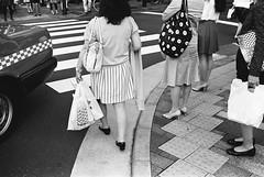 Ginza, Tokyo (fabiolug) Tags: legs shoes lines patterns bags women woman crossing sidewalk people street streetphotography tokyo japan japanese asia leicamp leica mp rangefinder film filmphotography believeinfilm blackandwhite blackwhite bw kodaktrix400 trix400 kodak trix kodaktrix voigtlandernoktonclassic35mmf14 voigtlandernokton35mmf14 voigtlander35mmf14 35mm voigtlander
