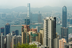 20160830-20-View of Hong Kong tower apartments and buildings from Victoria Peak (Roger T Wong) Tags: 2016 hongkong rogertwong sel70300g sony70300 sonya7ii sonyalpha7ii sonyfe70300mmf2556goss sonyilce7m2 thepeak victoriapeak apartments buildings haze skyline skyscrapers smog travel