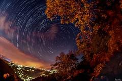 Chahtoul, Lebanon - star trail (Salim El Khoury) Tags: d7200 nikon lebanon chahtoul light village fog clouds nightphotography astrophotography astro longexposure longexpo nightscapes nightscape night startrail stars star