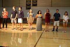PZ20160920-007.jpg (Menlo Photo Bank) Tags: photobypetezivkov students assembly event largegroup girls athleticcenter people lola upperschool 2016 fall boys menloschool aidan colton eliza gabrielle teshie atherton ca usa us