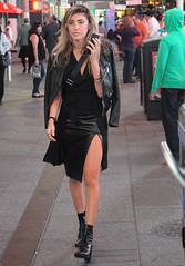 Times Square people September 2016 (zaxouzo) Tags: timessquare people september 2016 nikond90 nyc candid fashion night blackdress leather