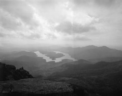 Quite the View (george.bremer) Tags: 4x5 adirondacks diafine epson film fp4 ilford lake lakeplacid largeformat mountains newyork scan scenic sp445 summer travelwide unevendevelopment usa v750 view water whitefacemountain