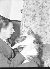 Tommy Jay and cat (taken for J.C. Williamson), 30 October 1941 (State Library of New South Wales collection) Tags: statelibraryofnewsouthwales