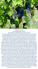 Matthew 20:1-16 (ChristianArtist) Tags: god jesus jesuschrist godthefather holyspirit holy church scripture angels faith prayer pray hope peace love aliveforevermore angel christian righteous kingofkings heaven archangel godislove princeofpeace creator christthecreator godthecreator thirdheaven awesome alphaandomega wonderful glorious omnipotent almighty bible holybible armorofgod glorify hallelujah judgment judgmentday usa unitedstatesofamerica sleep christwhostrengthensme wordofgod wordofgodstandsforever shinelikestars thelordismyshepherd eternity confesschrist confess repent repentance humble sinner humbleyourself saved lost found salvation praisegod amen wordbecameflesh bestrong courage spiritualwarfare spiritual warfare