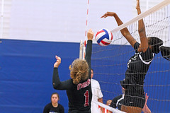 IMG_9507 (SJH Foto) Tags: girls volleyball high school stroudsburg pa pennsylvania team tween teen teenager varsity net battle spike block action shot jump midair