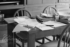 365.4 (Chiara De Bernardi) Tags: b blackandwhite home me project studio table casa w books bn io libri study help 365 pens tavolo biancoenero penne examining esame progetto aiuto project365 nikond90 progetto365