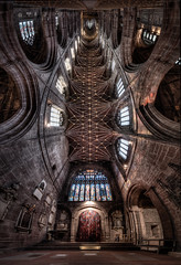 Chester Cathedral HDR Vertorama (4 images) (Mark Carline) Tags: cheshire cathedral chapels chester temples domes klaus hdr mosques herrmann vertorama
