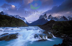 Chile 2.4.5 (David Noton) Tags: travel wild mountain snow water beautiful horizontal america river scenery skies escape view natural south scenic dramatic stormy rapids explore covered latin stunning environment jagged remote wilderness peaks cascading chilean unspoilt