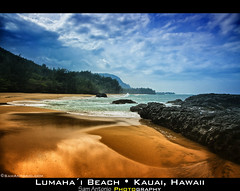 Life's a beach and then you die? Lumahai Beach; Kauai, Hawaii (Sam Antonio Photography) Tags: ocean travel blue sea summer vaca