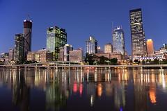 Brisbane Cityscape (Ardy Hadinata Kurniawan) Tags: landscape cityscape brisbane southbank bluehour canon40d canon1585