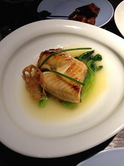 Champagne and honey cod