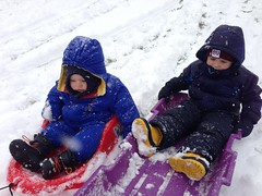 Double trouble sledding