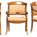 138. Set of Three Biedermeier Style Arm Chairs