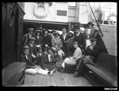 Spectators onboard NAMOI, Sydney Harbour