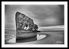Shipreck Baltray (P.Gibney) Tags: ireland sea blackandwhite seascape landscape coast blackwhite scape louth baltray shipreck