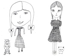 drawing girls 3. (pretty little thieves) Tags: illustration kidsart girlart drawinggirls