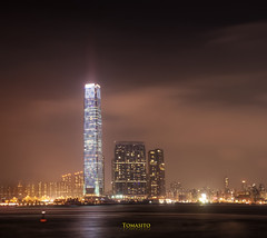 The ICC / Ritz-Carlton, Hong Kong (Tomasito.!) Tags: longexposure night skyscraper photography lights asia popular kowloon touristattraction tallestbuilding sky100