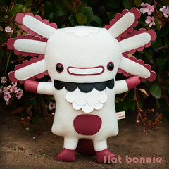 Flat Bonnie x Gary Ham - Wooper Looper prototype (1) (Flat Bonnie & Friends) Tags: rescue pet anime cute rabbit bunny bunnies art love dutch animal japan easter toy toys japanese stuffed mod hare doll soft hand flat graphic designer handmade crafts tail culture craft felt salamander pop retro plush made plushies cotton gift lucky harajuku kawaii indie plushie animation bonnie rabbits collectible etsy lover custom shelter fleece adopt bun axolotl lapin usagi adoption designers jpop lop designertoy crafted lagomorph bunneh flattie designerplush wooper rooper wooperlooper flatbonnie