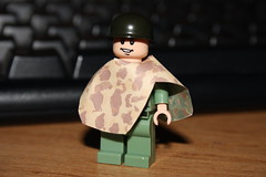 Reversible USMC ponchos! (zalbaar) Tags: world 2 usmc army us war lego pacific camo american ww2 poncho customs reversible zalbaar