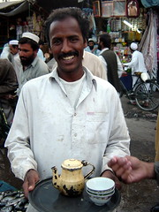 Tea Deliverer in Market, Pechawar (tyamashink) Tags: pakistan