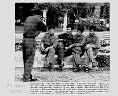 Vietnam War - 1975 PRG as tourist in Saigon - Press Photo