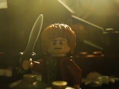 Bilbo in Mirkwood (Automaton Pictures) Tags: pictures mist toy spider lego spiders dwarf minifig hobbit bilbo dwarves desolation automaton smaug minifigure mirkwood autopic