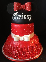 "Mini mouse red dress cake • <a style=""font-size:0.8em;"" href=""http://www.flickr.com/photos/60584691@N02/8547849714/"" target=""_blank"">View on Flickr</a>"