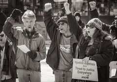 Solidarity Sing Along at the Capitol Madison, Wisconsin 3/7/13. (depthandtime) Tags: