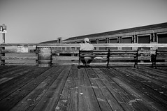 Sitting On The Dock Of The Bay (Nick Lambert!) Tags: sanfrancisco street blackandwhite bw fuji streetscape sittingonthedockofthebay nicklambert fujix100 fujinonasphericallens