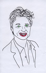 Zach Braff (David Sperring) Tags: celebrity art doodle scrubs madmen davidsperring