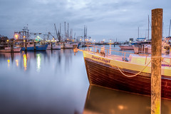 Predawn at Dawn's Angel (Lane Rushing) Tags: reflections mississippi boats dawn harbor pier nikon hdr passchristian d600 bigmomma mississippigulfcoast 2470mmf28 photomatixpro passchristianharbor herowinner ultraherowinner storybookwinner