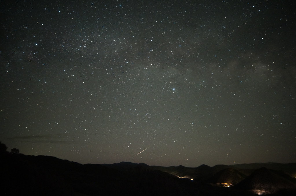 By this time of the morning there are more satellites visible as brief streaks and I am less confident of this one.