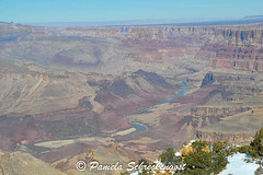 Grand Canyon and Colorado River (pamelainob (Pamela Schreckengost)) Tags: arizona snow grandcanyon southrim desertview grandcanyonnationalpark desertviewdrive grandcanyonsouthrim pamelaschreckengost pamschreckcom 2013pamelaschreckengost