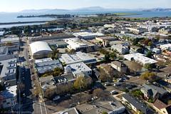 West Berkeley, annotated (Michael Layefsky) Tags: california berkeley bap aerial photograph sanfranciscobay berkeleymarina aquaticpark westberkeley balloonaerialphotography