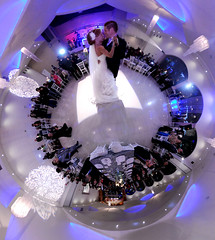Pretty little wedding (MarsAnem) Tags: stereographic little planet couple wedding love gown waltz dance white suit proyeccin estereogrfica pequeo planeta pareja casados just married vals blanco traje amor amore ballare sposare sposi piccolo pianeta