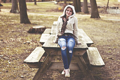 Maeve S. (KyleWillisPhoto) Tags: park trees portrait nature girl smile fashion canon pose eos 50mm model friend picnic photoshoot modeling fashionphotography path mercer teen portraiture 7d heels f18 70 picnictable mercercountypark 50mmf18 modelphotography